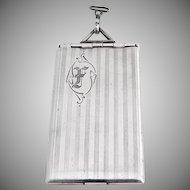 Vintage Locket Pendant Sterling Silver 1920