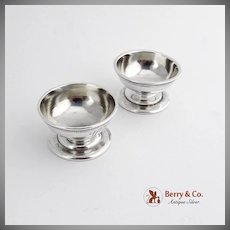 Pair Open Salt Dishes Sterling Silver Whiting Silversmiths 1880