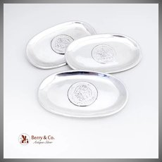 Three Trays Inset Coins Hand Made Sterling Silver Sanborns