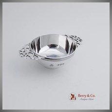 Double Handle Open Salt Dish Sterling Silver London 1892