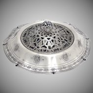 Louis XIV Centerpiece with Frog Sterling Silver Towle Silversmiths 1924