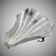 Large Shell Centerpiece Bowl Figural Crab Decoration Sterling Silver Italy 1956