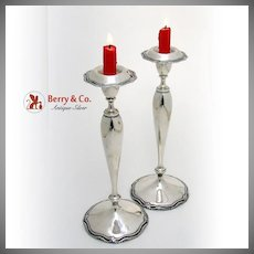 Marie Louise Candlesticks Sterling Silver Shreve and Co 1915