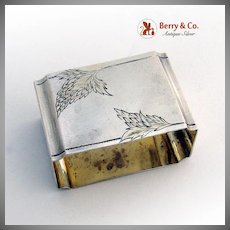 Russian Rectangular Napkin Ring 84 Standard Silver 1910 Monogram NB