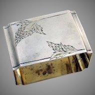 Russian Rectangular Napkin Ring 84 Standard Silver 1910 Monogram NB
