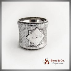Basket Weave Napkin Ring Sterling Silver Wood and Hughes 1880