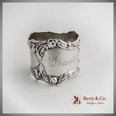 Large Art Nouveau Napkin Ring Sterling Silver 1900