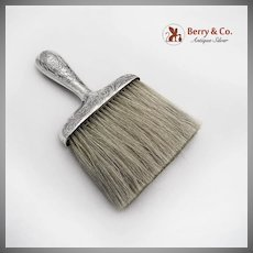 Clothes Brush Acid Etched Sterling Silver Gorham Silversmiths 1900