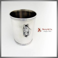 Julep Cup Beaker with Horse Head Sterling Silver Newport