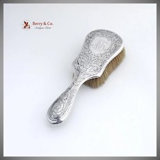 Acid Etched Hair Brush Sterling Silver Gorham Silversmiths 1900