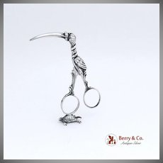 Ribbon Pullers Figural Sterling Silver 18th Century