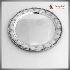 Rose Point Serving Tray Sterling Silver Wallace 1934