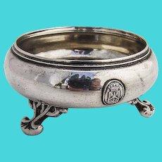 Open Salt Dish Austrian 830 Standard Silver 1865