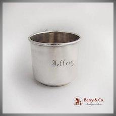 Baby Cup Sterling Silver International Monogram Jeffrey