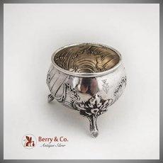 Baroque Open Salt Dish 800 Silver Germany 1890