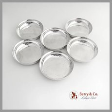 Set of 6 Nut Cups Sterling Silver Shreve and Company
