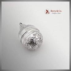 Vintage Box Tear Drop Form Sterling Silver Thailand