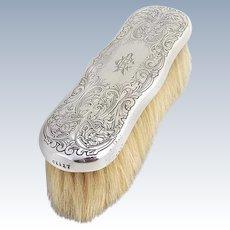 Art Nouveau Clothes Brush Acid Etched Sterling Silver Gorham Silversmiths 1900