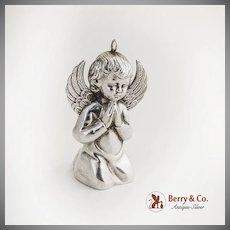 RM Trush Angel Christmas Ornament Sterling Silver 1972