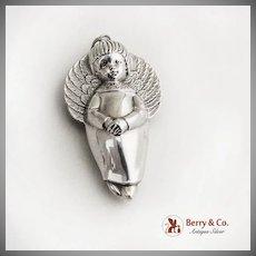 RM Trush Sterling Silver Angel Christmas Ornament