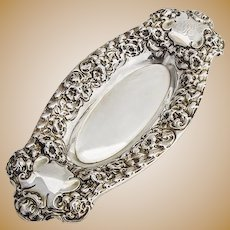 Gorham Floral Repousse Pin Tray Sterling Silver JSE 1900