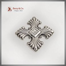 Reed And Barton Christmas Cross Sterling Silver 1973