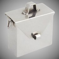 Mexican Satchel Pill Box Sterling Silver 1980