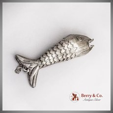 Mexican Articulated Fish Ornament Sterling Silver