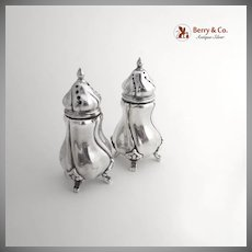 German 830 Silver Salt Pepper Shakers 1920