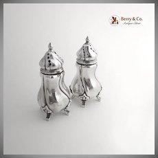 German 830 Silver Salt Pepper Shakers 1920