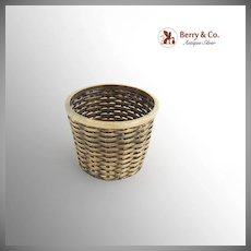 Mexican Small Basket Sterling Silver