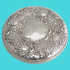 Towle Round Floral Mirror Sterling Silver