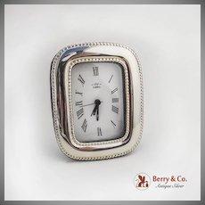 Italian Sterling Silver Alarm Clock Florence