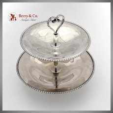 Italian 800 Silver 2 Tiered Server Applied Twisted Rope Border 1955