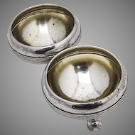 Vintage Open Salt Dishes Cellars Pair 800 Silver Germany 1920