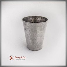 Vintage Japanese Hammered Shot Cup 950 Sterling Silver Toyokoki