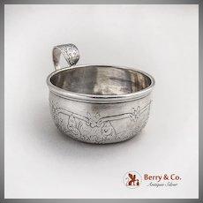 Nursery Rhyme Cup Humpty Dumpty Handle Weidlich Sterling Silver