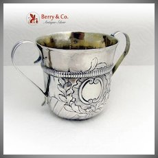 Early George III Caudle Cup William Cripps Sterling Silver 1763 London