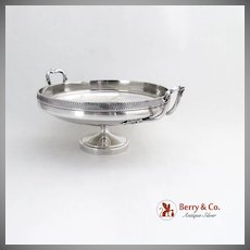Classical Revival Pedestal Bowl Shell Scroll Handles Sterling Silver 1890