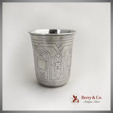 Aesthetic Large Vodka Cup 84 Standard Silver Moscow 1877