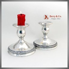 Prelude Candle Holders Pair International Sterling Silver Weighted 1939