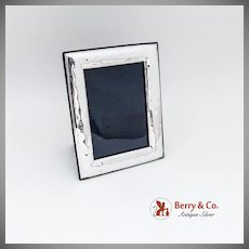 Medium Size Rectangular Picture Frame Sterling Silver Italy