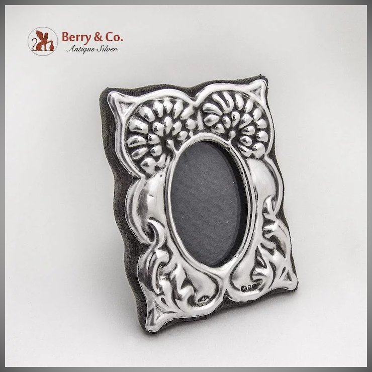 Vintage Small Floral Picture Frame Sterling Silver London 1982 ...