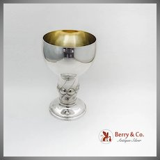 Large Swedish Beaker Gilt Interior 830 Standard Silver Stockholm 1919