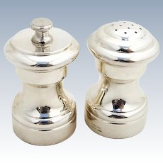 Vintage Salt Shaker Pepper Grinder Set Empire Sterling Silver 1950