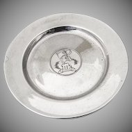 Advertising McCormick Plate James R Armiger Co Sterling Silver 1940