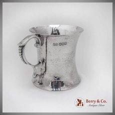 Irish Hammered Cup Mug William Egan And Sons Sterling Silver Dublin Cork 1969