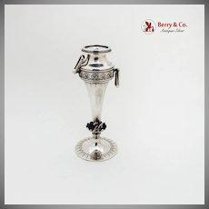 Aesthetic Bud Vase Engraved Floral Cast Bird Gorham Sterling Silver 1877