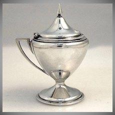 Neo Classical Coin Silver Mustard Pot Gorham 1865