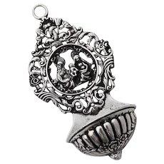 Antique Ornate Religious Tool Sterling Silver Hanau 1890